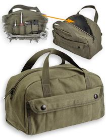 Mechaniker Werkzeugtasche, Baumwollcanvas, oliv, schwarz