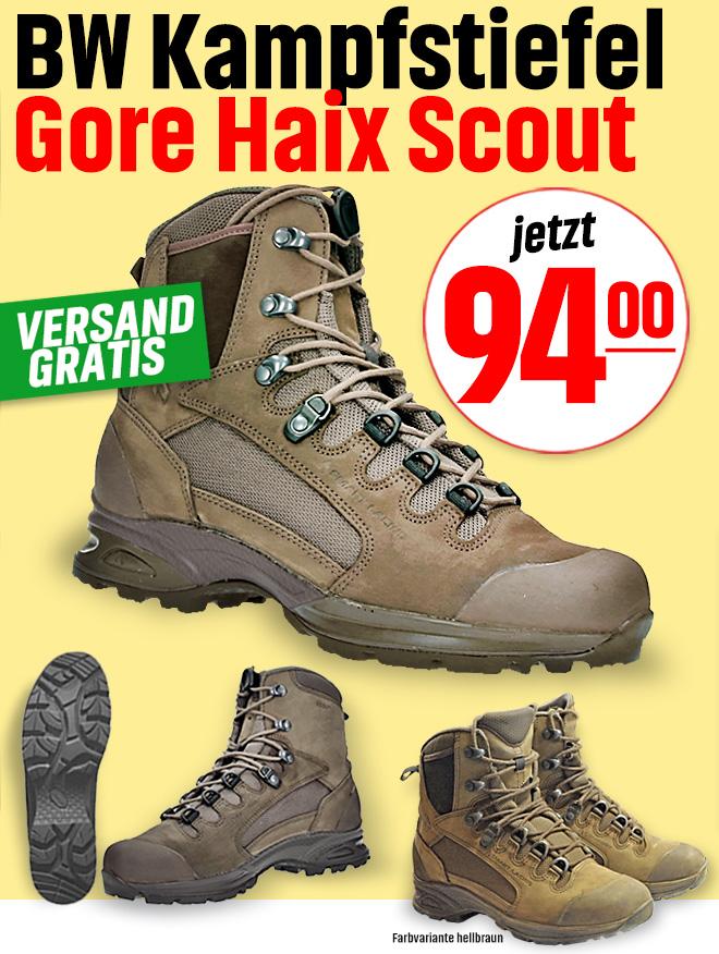 Bundeswehr Kampfstiefel Gore, Haix Scout