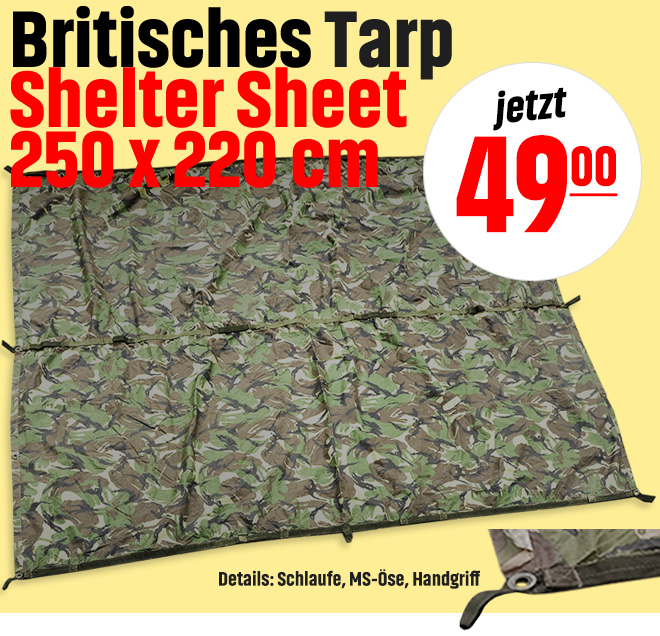 Britisches Tarp Shelter Sheet 250 x 220 cm