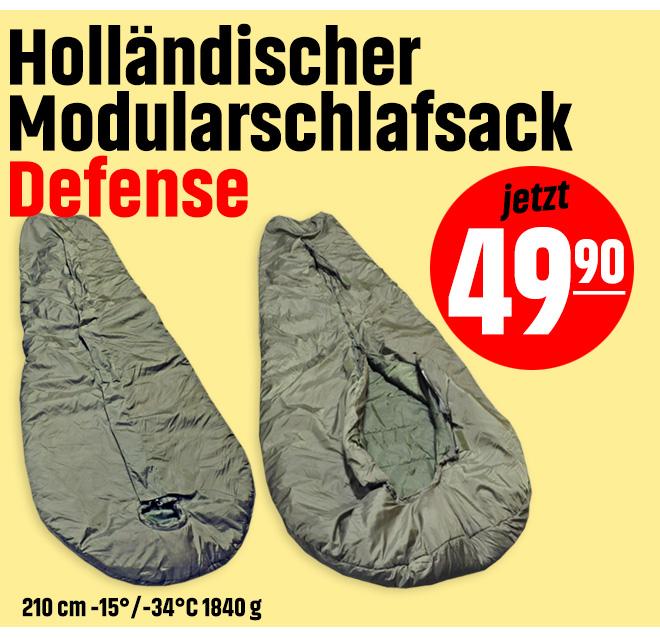 Holländischer Modularschlafsack Defense, 210 cm -15°/-34°C 1840 g