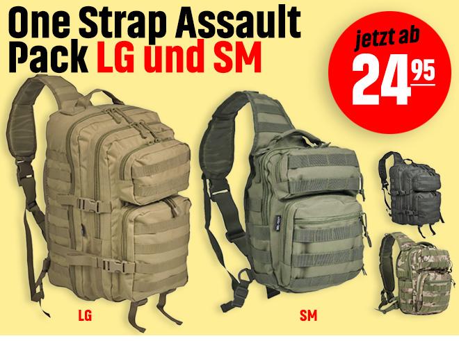 One Strap Assault Pack SM und LG